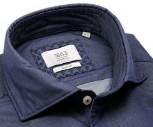 Koszula Eterna Slim Fit 1863 Super Soft - luksusowa - stałowo niebieska