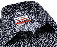 Koszula Marvelis Modern Fit - granatowa z białymi ornamentami