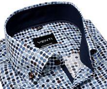 Koszula Venti Modern – w nadrukowane koła, z wewnętrzną stójką i mankietem - super długi rękaw