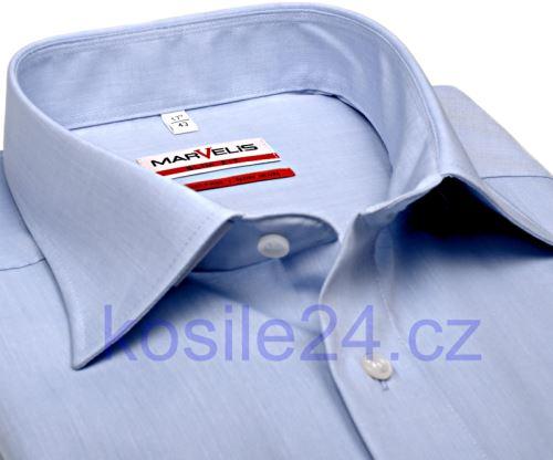 Koszula Marvelis Modern Fit Chambray – jasnoniebieska - extra długi rękaw