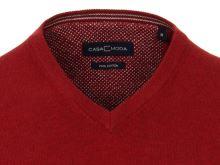 Bawełniany sweter Casa Moda - średnio czerwony