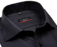 Koszula Eterna Modern Fit – luksusowa antracytowa z wplecionym wzorem - extra długi rękaw