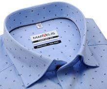 Koszula Marvelis Comfort Fit – jasnoniebieska w jodełkę z delikatnym wzorem