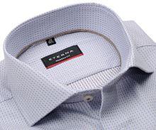 Koszula Eterna Modern Fit - luksusowa z wyszytym jasnoniebieskim i beżowym wzorem