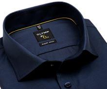 Koszula Olymp Super Slim – ciemnoniebieska z wpleconym wzorem