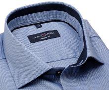 Koszula Casa Moda Modern Fit - niebieska z ciemnoniebieską wewnętrzną stójką i mankietem