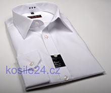 Koszula Marvelis Body Fit – biała z kołnierzykiem włoskim i szwem rozdzielającym
