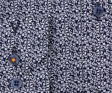 Koszula Marvelis Body Fit – ciemnoniebieska z białymi literami