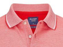 Polo koszulka Olymp z kołnierzykiem - czerwona z białą siateczką
