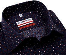 Koszula Marvelis Modern Fit - granatowa z czerwono-białym wzorem