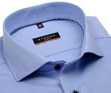 Koszula Eterna Slim Fit – jasnoniebieska o delikatnej strukturze - super długi rękaw
