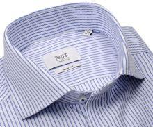 Koszula Eterna 1863 Slim Fit Two Ply - luksusowa w niebieskie paski