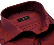 Koszula Eterna Comfort Fit – z drobnym czerwono-niebieskim wzorem - extra długi rękaw