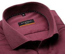 Koszula Eterna Slim Fit – czerwona o delikatnej strukturze