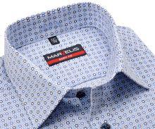 Koszula Marvelis Body Fit – z niebiesko-beżowym wzorem
