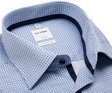 Koszula Olymp Luxor Comfort Fit – z niebieskim wzorem - extra długi rękaw