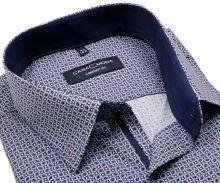 Koszula Casa Moda Comfort Fit – w fioletowo-niebieski wzór z ciemnoniebieską wewnętrzną stójką