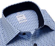 Koszula Olymp Comfort Fit – jasnoniebieska w niebieskie wzory z wewnętrzną stójką